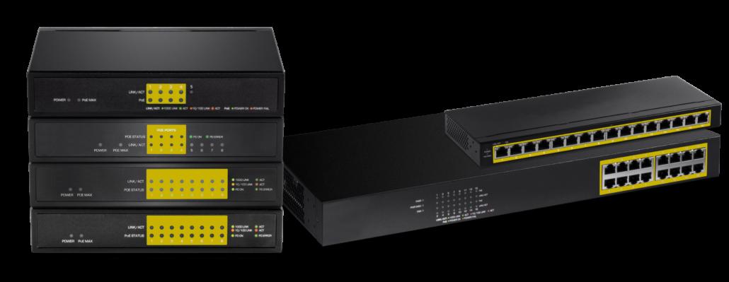 Unmanaged Ethernet PoE Switches